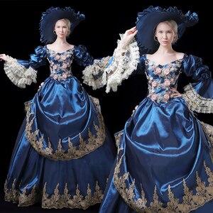 Бальное платье в викторианском стиле 18th Century Rococo, Готическая Мария-Антуанетта, платье эпохи Возрождения