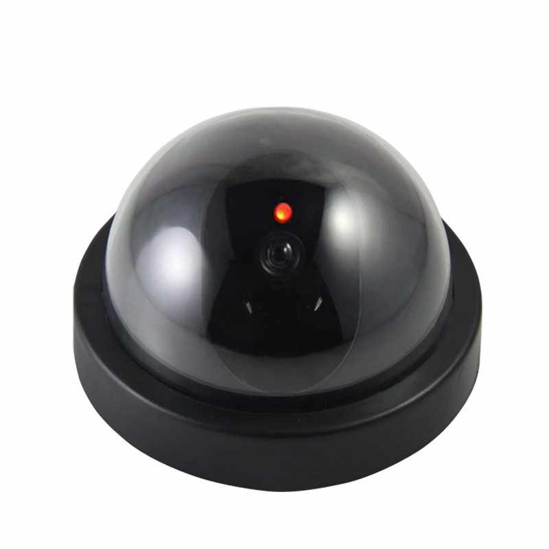 Dummy Fake Camera Indoor Fake Surveillance Camera Dome CCTV Security Camera Flashing Red LED Light for Home and Office