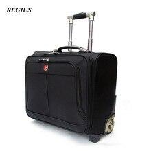 REGIUS  Commercial Travel Bag Trolley luggage ,High Quality 17″ Travel Suitcase, Universal wheel Aluminium alloy rod Trolley