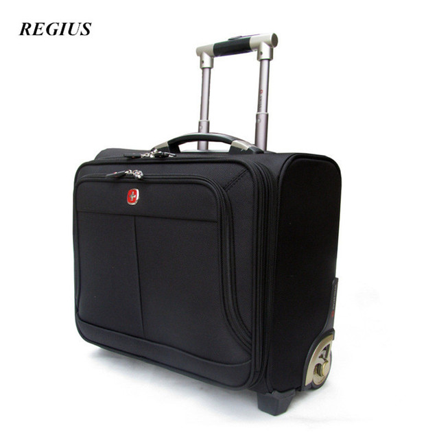 "REGIUS  Commercial Travel Bag Trolley luggage ,High Quality 17"" Travel Suitcase, Universal wheel Aluminium alloy rod Trolley"