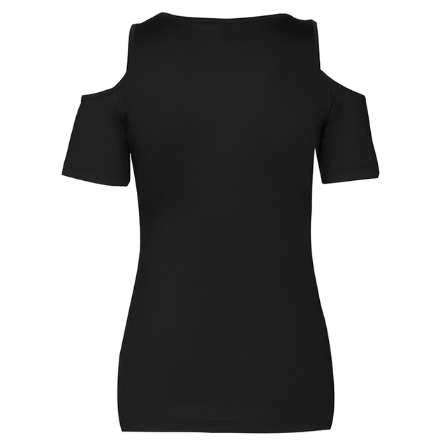 Summer Women T Shirt Solid Color With Lace Up Bandage Criss Cross Casual Short Sleeve Tshirt Cold Shoulder Tees Tops 5XL LJ9628R 1