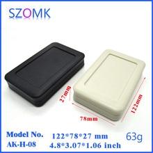 1 piece black and light grey handhel case project box electronics plastic instrument housing 122*78*27mm