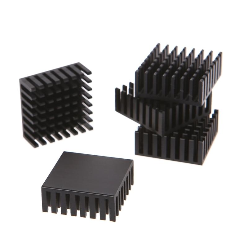 ספיישל משחקי-Quercetti 5pcs 25 * 25 * 10mm אלומיניום Heatsink בלוק מחשב Cooler אלקטרונית צ