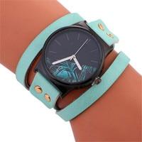 OTOKY Willby Fashon Stylish Simplicity Leather Bracelet Lady Woman Wrist Watch P23 Drop Shipping Aug4
