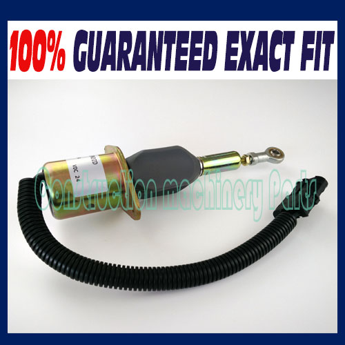 Fast Free Shipping, New Diesel Shut Off Solenoid 3930234 for Cummins 6CT 8.3L Komatsu Excavator 3924450 2001es 12 fuel shutdown solenoid valve for cummins hitachi