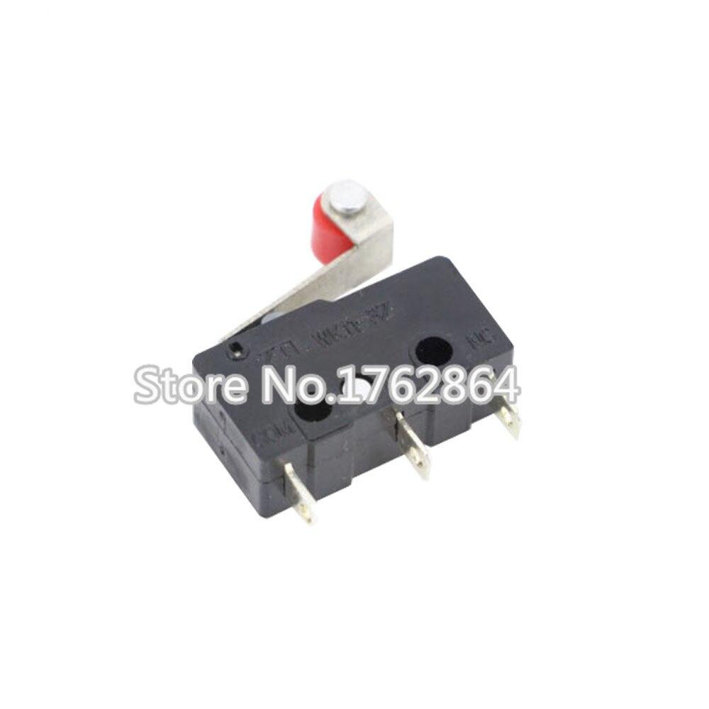 100PCS 3pin All New Limit Switch N/O N/C 5A250VAC KW11-3Z Mini Micro Switch With Pulley Laser Machine Micro Limit Sensor Auto