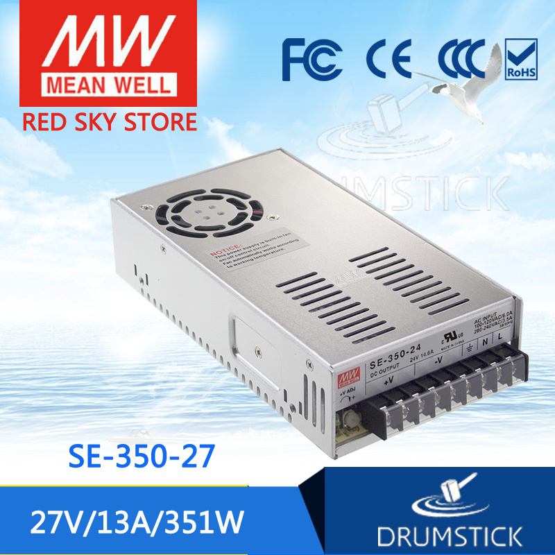 Selling Hot MEAN WELL SE-350-27 27V 13A meanwell SE-350 27V 351W Single Output Switching Power Supply best selling mean well se 200 15 15v 14a meanwell se 200 15v 210w single output switching power supply