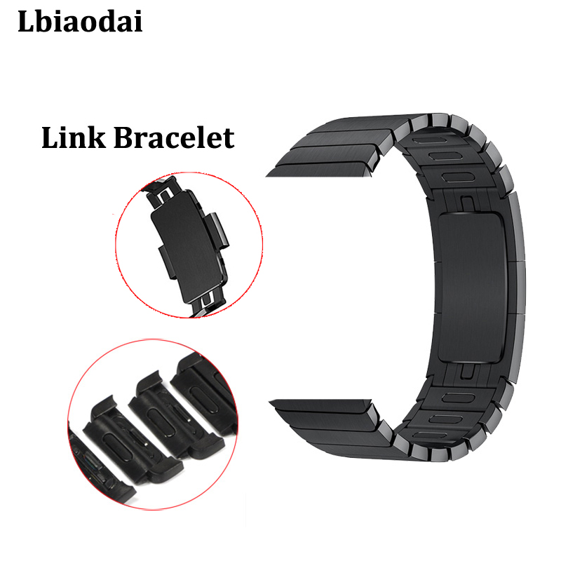 Stainless Steel Link Bracelet Strap for Apple watch band 4 40mm 44mm 42mm 38mm Butterfly Clasp watchband iwatch Series 3 2 1 5 14y high quality boys thick down jacket 2016 new winter children long sections warm coat clothing boys hooded down outerwear