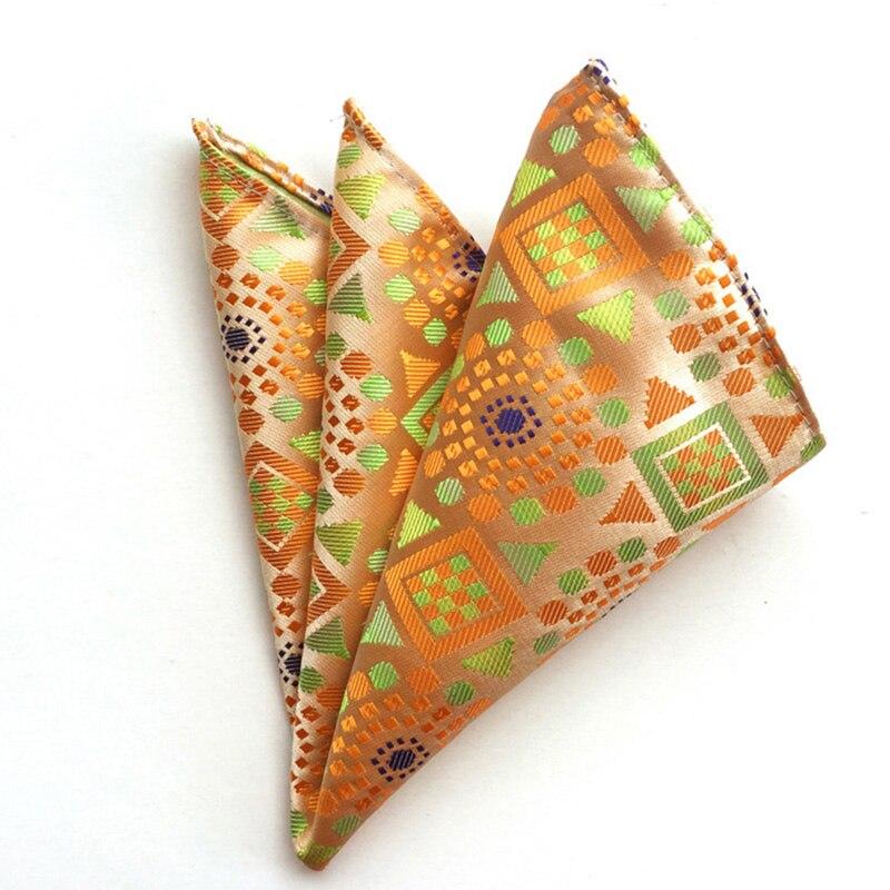 Paisley Handkerchief For Men Suit Polyester Floral Plaid Men Fashion Pocket Square Chest Towel Pocket Towel Hanky