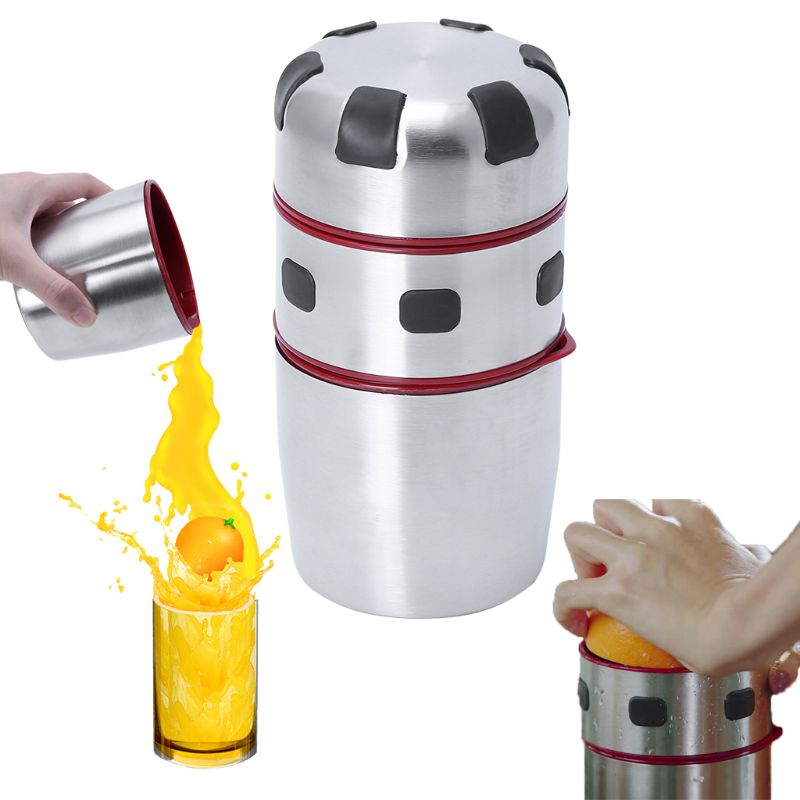 Powerful Stainless Steel Manual Citrus Juicer Orange Lemon Fruit Lid Rotation Squeezer Portable Juice Extractor Cup Kitchen ToolPowerful Stainless Steel Manual Citrus Juicer Orange Lemon Fruit Lid Rotation Squeezer Portable Juice Extractor Cup Kitchen Tool
