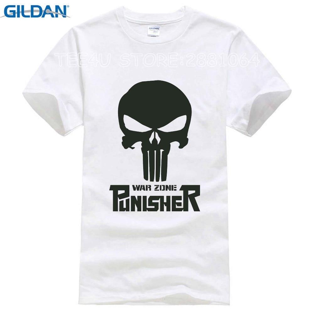 Black t shirt bulk - Gildan Tee4u Bulk T Shirts Cotton Crew Neck The Punisher Skull Short Sleeve Shirts For
