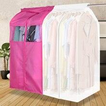 Alta qualidade pendurado roupas capa de poeira casos terno saco capa caso saco de armazenamento à prova de poeira, tridimensional, frete grátis.