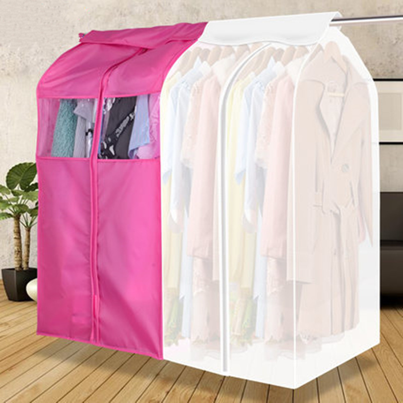 High quality hanging clothes dust cover cases suit bag cover case Dustproof Storage Bag , three dimensional,Free shipping.Clothing Covers   -