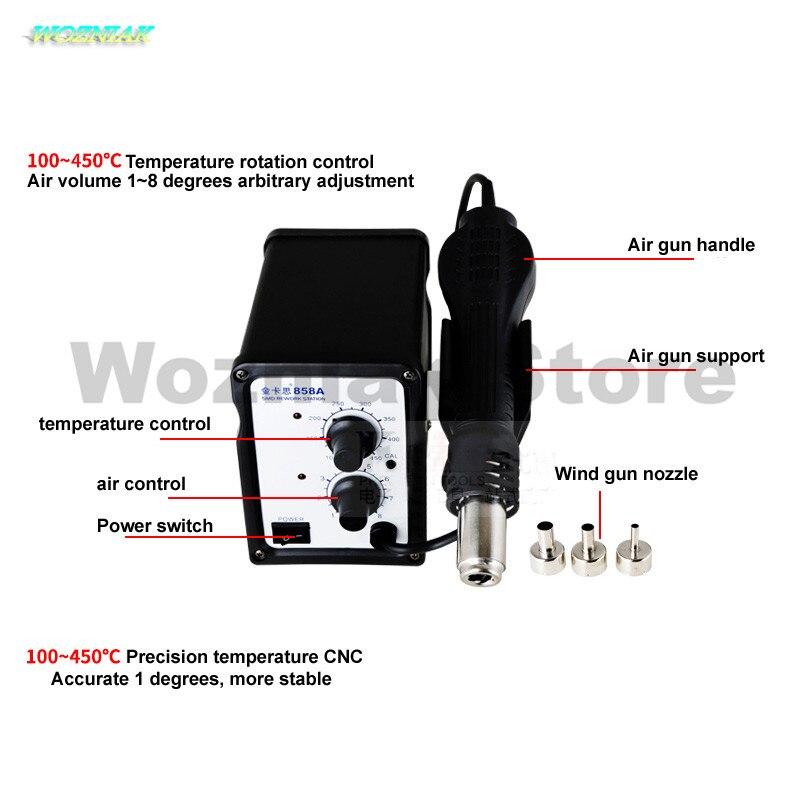 Wozniak Adjustable Digital display temperature regulating hot air gun 700w Mobile repair and bga welding platform