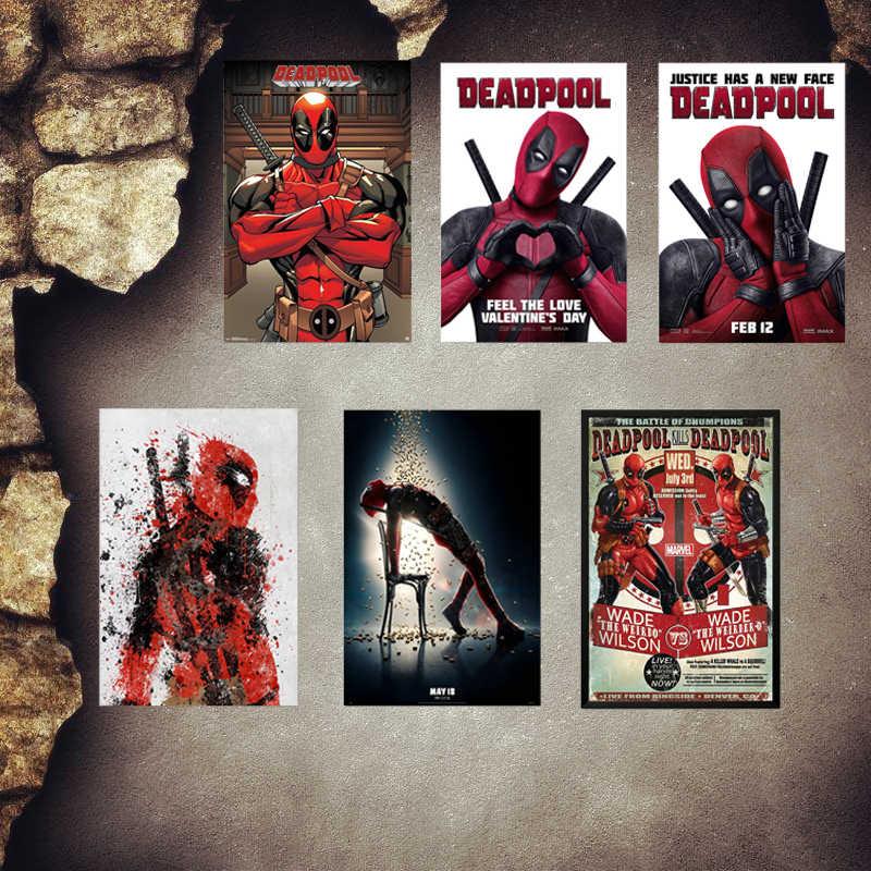 Deadpool البلاك خمر معدن القصدير علامات الرئيسية بار حانة متجر الزخرفية لوحات معدنية خارقة ملصقات جدار ملصق فني MN3