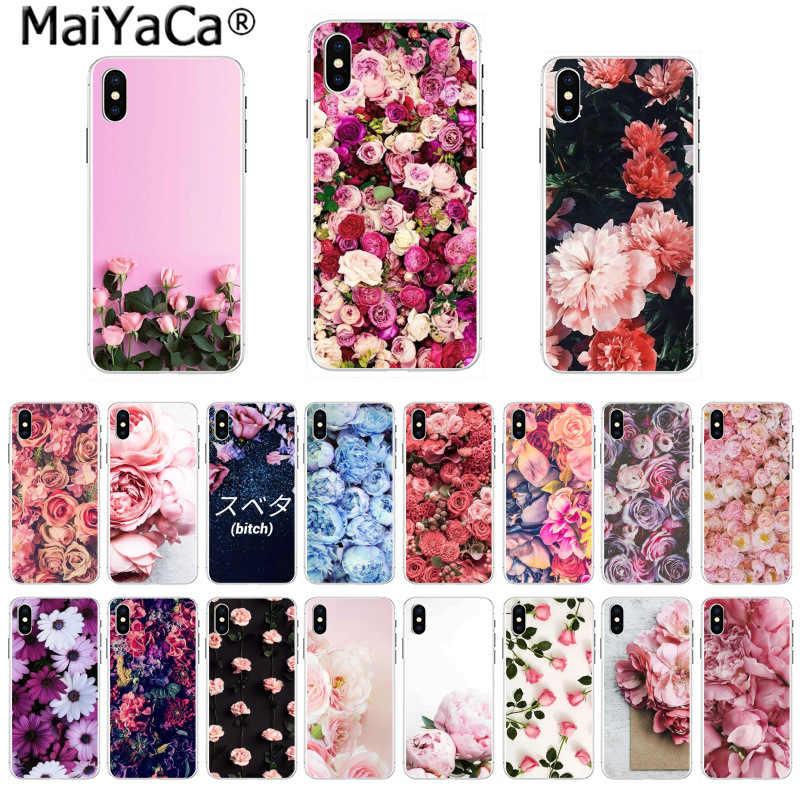 MaiYaCa niesamowity krajobraz etui na telefon kwiat różowy piwonie piwonia dla iphone 11 pro 8 7 66S Plus X 5S SE 44S XS XR XS max pokrywa