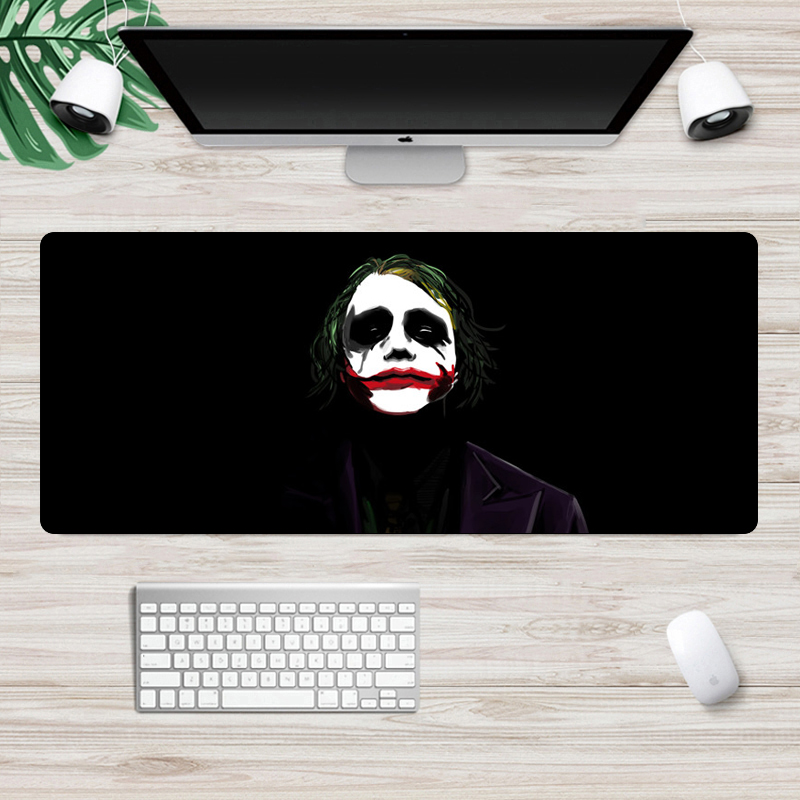 Large 70x30cm Funny Joker The Dark Knight MousePad Fashion Movies Gaming Mouse Pad  Locking Edge Non-Skid Laptop Desk Mat