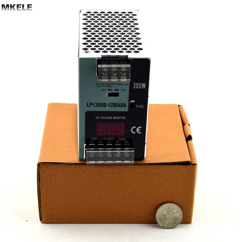 Venta caliente DIN Rail Conmutación de alimentación conductor LP-300-12 300 W 220 V 12 V 25A digital mostrar tensión China