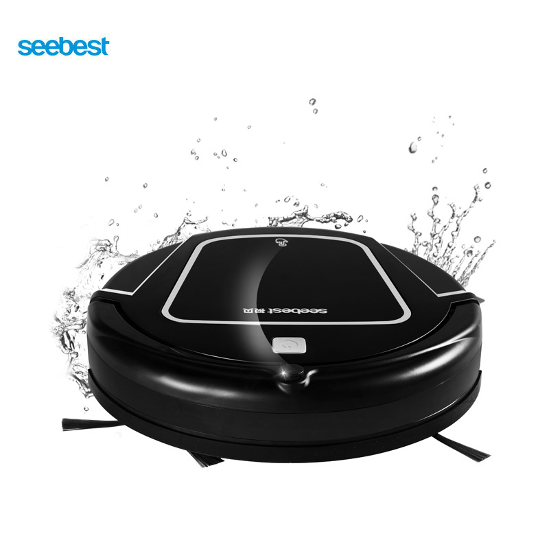 Clean Robot Aspirator with Wet/Dry Mopping Water Tank, Time Schedule, Auto Recharge Smart Cleaner, Seebest D730 MOMO 2.0 russia warehouse seebest d720 momo 1 0 intelligent robot vacuum cleaner with big dry mopping time schedule auto recharge
