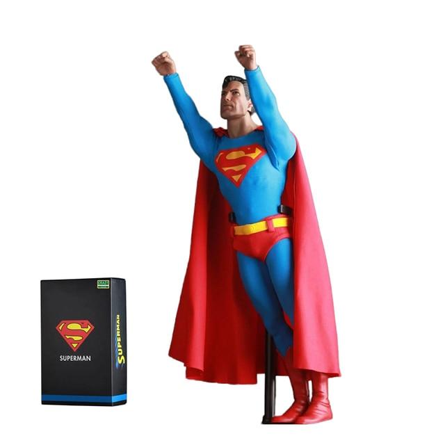 Superman Loucos Brinquedos DC Comics Liga Da Justiça Superman Superhero Figura Brinquedos Boneca PVC Action Figure Collectible Modelo 30 cm KT2985