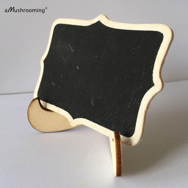 100x Schwarz Mini Tafel Tafel auf Holz Staffelei | Hochzeit zeichen ...