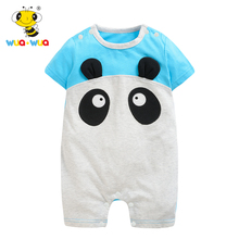 2019 Summer Cartoon Baby Girl Clothes Kid Jumpsuit Baby Boy Body Suit Clothing Short Sleeve Romper 0-18 Months Baby