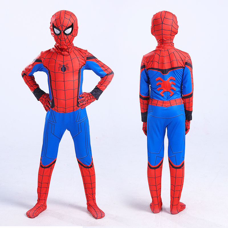 2017 Spider-Man Homecoming Cosplay Costume 3D Printed Spiderman Homecoming Spandex Suit Spidey Bodysuit boys children adult kids