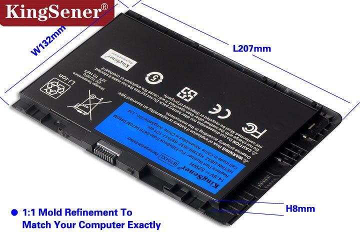 KingSener nuevo BT04XL batería para HP EliteBook Folio 9470, 9470 M 9480 M HSTNN-IB3Z HSTNN-DB3Z HSTNN-I10C BA06 687517-1C1 687945- 001 - 3