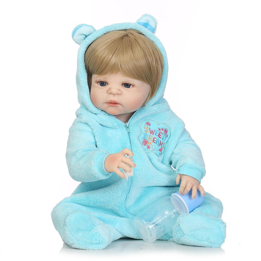 Fashion 22inch Handmade Lifelike Newborn Baby Doll Imitation Vinyl Silicone Reborn Toy