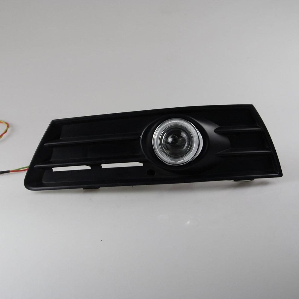 СИД DRL дневного света CCFL для глаза ангела, объектив проектора противотуманная фара с крышкой для Фольксваген Пассат СС 2008-13, 2 шт