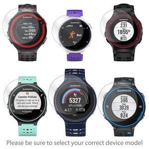 Image 2 - VSKEY 20 PCS מזג זכוכית עבור Garmin Forerunner 235 230 220 225 630 620 מסך מגן עגול Smartwatch מגן סרט