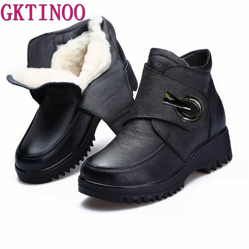 Aliexpress.com : Buy GKTINOO Thick Wool Women Snow Boots