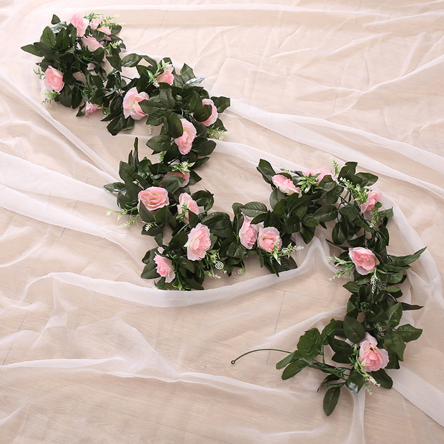 Silk Rose Artificial Hanging Flowers for Wall Decoration Wedding Home Decor 1