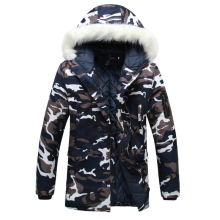 Hot sale 2016 New Men's Camouflage Winter Coats Warm Cotton Padded Mens Down Hooded Jackets Coats Thicken Parkas Men 5XL