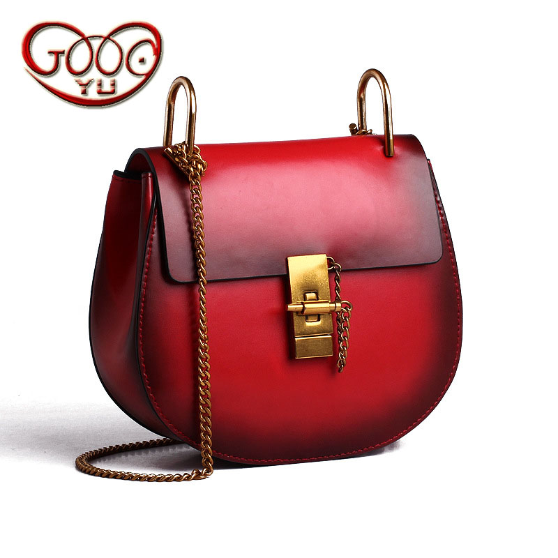 Star with the Department of leather piglets package leather chain package Korean version of the tide shell-shaped shoulder Messe fasiqi crocodile the female bag chain of the chain pig bao star in the style of 2016 new fashion single shoulder slanting mini