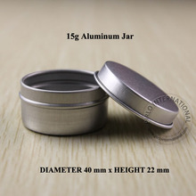 15g Aluminum Jar Facial Mask Cream Containers Split Charging Jars Cosmtic Packaging Cream Jar 100 pcs/lot +Free Shipping