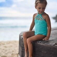 New Style Baby Children Girls Summer Swimwear Halter Tankini Bikini Sets Hot Sale Swimwear Swimsuit Bathing Suit Beachwear