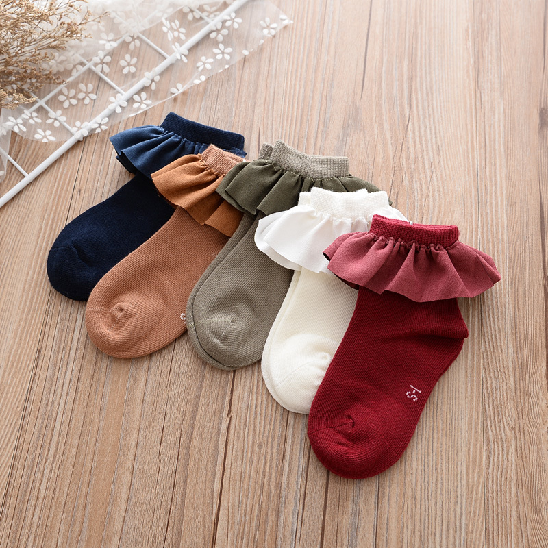 Lace Socks Girls Cozy Vintage Lace Ruffle Frilly Ankle Socks Baby Girls Princess Socks F ...