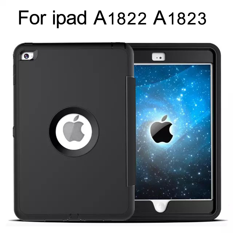 for iPad 9.7 inch 2017 Case Retina Kids Safe Armor Shockproof Heavy Duty Silicone Hard Case For iPad A1822 A1823 Case Cover ipad 4 retina в спб