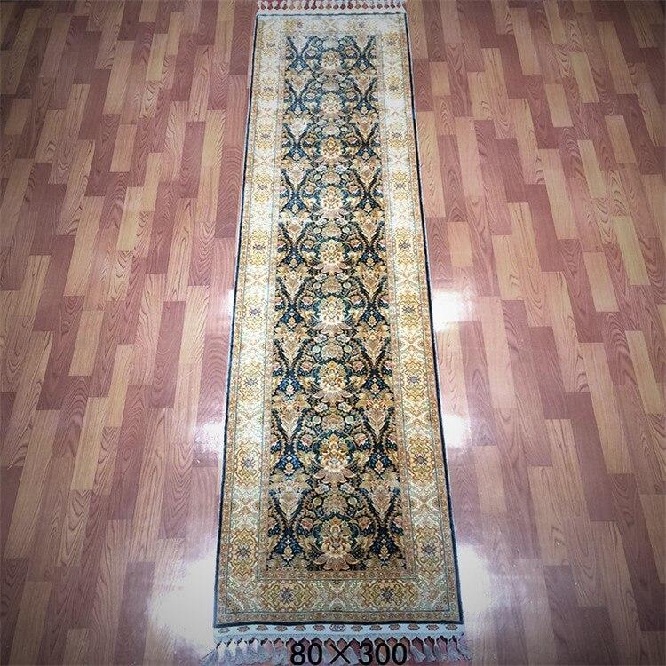 2.5 'x10' fait à la main longue soie tapis couloir coureur tapis décor à la maison Long tapis