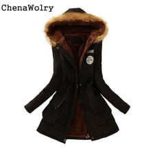 Casual Slim Fit Attractive Luxury Women Warm Long Coat Fur Collar Hooded Jacket Winter Parka Outwear Free Shipping Dec 14