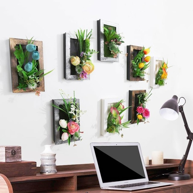 Simulation Plant Wall Hanging Home Wall Decoration Flower Pot