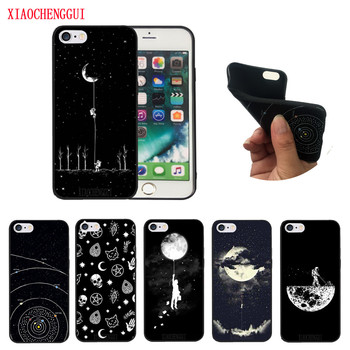 For iPhone 6 Case Space Moon Astronaut print good soft silicone for iphone 5 5s SE 6s 7 8 Plus X cover Back Fundas iphone 6