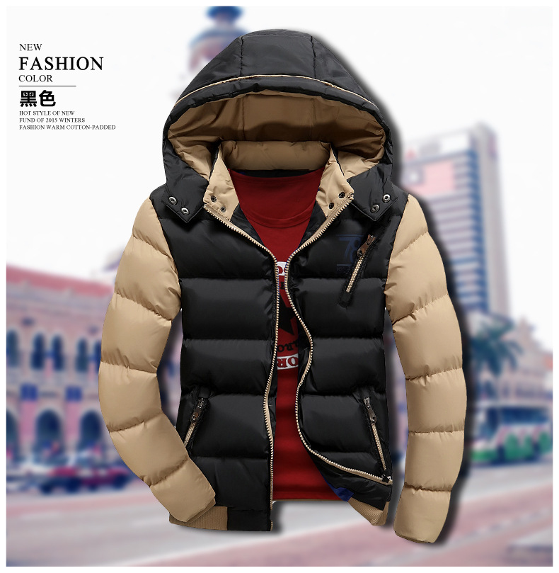 T china cheap wholesale 2016 autumn winter new men fashion casual slim thickening Keep warm cotton-padded jacket outerwear  free shipping 2016 autumn winter new korean version fashion city men slim casual zipper cotton padded jacket cheap wholesale