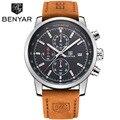 Mens Relojes de Lujo Marca Famosa Fecha Cronógrafo Relojes Para Hombre Impermeable Reloj Deportivo Militar Reloj Hombre Montre Homme 2017