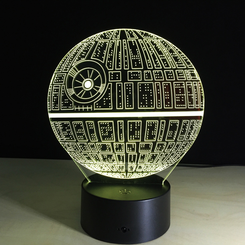 Star Wars Death Star 3D LED Night Light Touch Switch Table Desk Lamp Xmas Gift