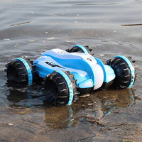 1:18 RC Cralwer Car 360 Rotate Remote Control Car Driving on Water and Land Amphibious Electric Toys Children