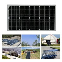Flexible Boat Car Sunpower Charger 30W 12V Moncrystalline Solar Panel Module Ultra Thin Outdoor Solar Charging Device