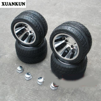 XUANKUN Beach Car Kart 10 Inch Aluminum Wheel Vacuum Flat Tire ATV 235 / 30 10 Inch Tires Aluminum Wheel Hub / Sets