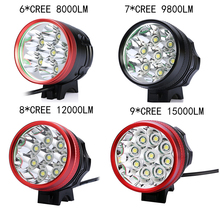 CREE XML XM-L U2 9800LM 7x LED Bicycle Bike Light Lamp cycling Free Shipping (Battery not included)
